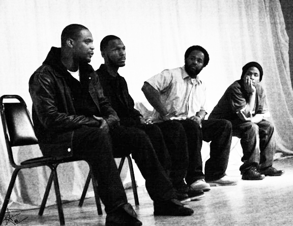 M1, Malcolm Shabazz, Samm Styles, JR panelists Human Rights Movie Fest 2011 SF by BR