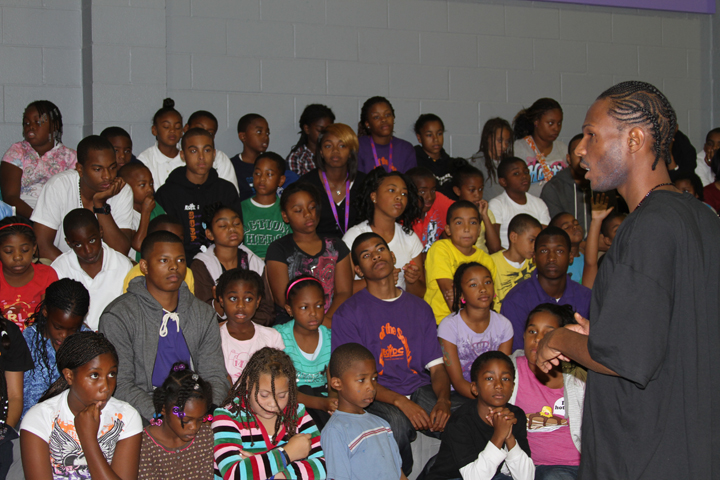 Malcolm Shabazz speaks East Oakland Youth Development Center 0710 by BR, web