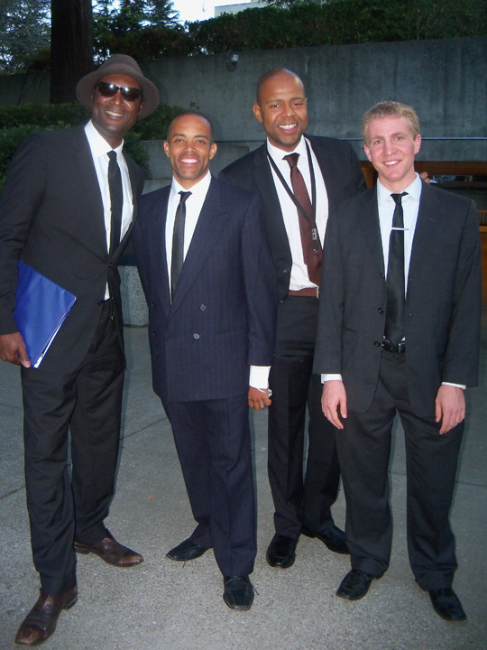 Marcus Shelby, L, w orchestra at Everyday People, EJS gala 082813 by Wanda