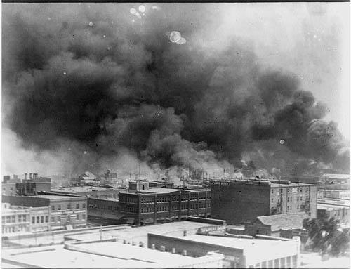 Tulsa Race Riot, Black Wall Street on fire 060121