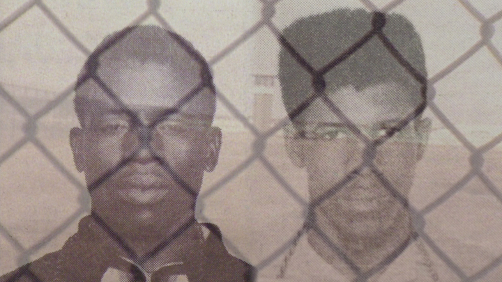Herman Wallace, Albert Woodfox early 1970s, photo from 'In the Land of the Free...' Angola 3 doc, web