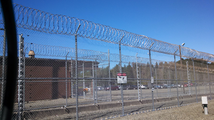 Electrified-fence-around-Pelican-Bay-State-Prison-by-Katie-Orr-Capital-Public-Radio, Retaliation against Pelican Bay mainline prisoners, Behind Enemy Lines
