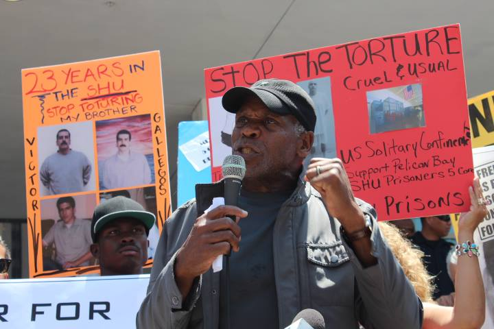 Hunger-strike-solidarity-Day-of-Action-Danny-Glover-Los-Angeles-073113-by-Alex-Sanchez-Homies-Unidos, CDCr calls hunger strike supplemental demands reasonable, then reneges; prisoners respond, Behind Enemy Lines
