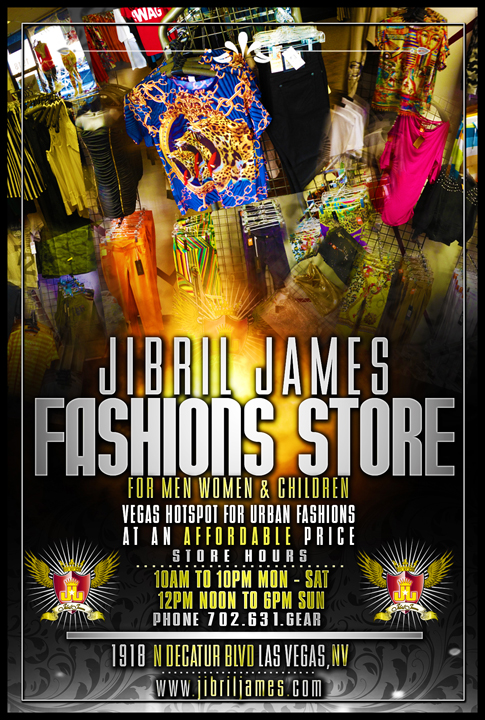Jibril James Fashions flier