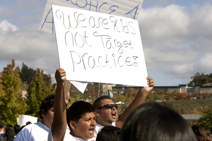 Justice-for-Andy-Lopez-march-We-are-kids-not-target-practice-102913-by-Malaika-web, Andy Lopez, 13, murdered by cop with 'mean gene', Local News & Views