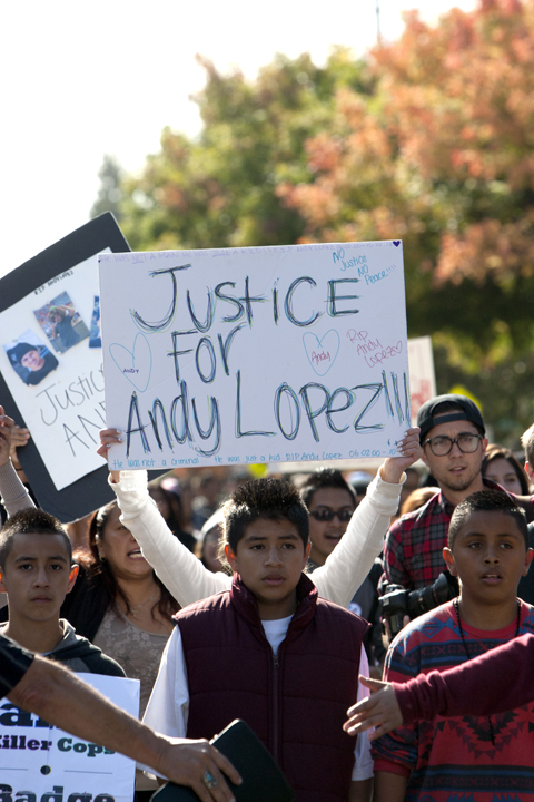 Justice-for-Andy-Lopez-march-youth-102913-by-Malaika-web, Andy Lopez, 13, murdered by cop with 'mean gene', Local News & Views