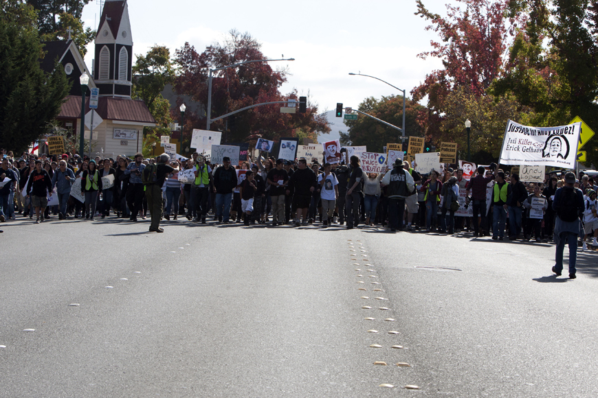 Justice-for-Andy-Lopez-marchers-assemble-102913-by-Malaika-web, Andy Lopez, 13, murdered by cop with 'mean gene', Local News & Views