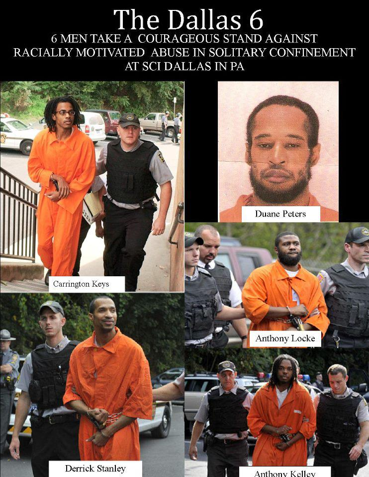 The-Dallas-6-collage, The Dallas 6 Case: Solitary confinement on trial in a US courtroom, Behind Enemy Lines