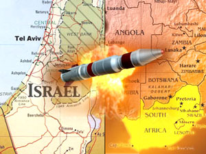 Israel missile South Africa graphic
