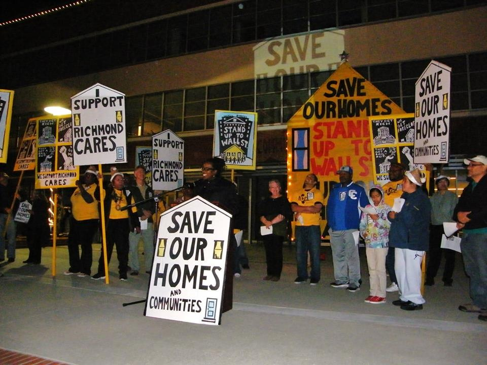 Richmond CARES save our homes rally before City Council vote Jovanka Beckles speaks 111713