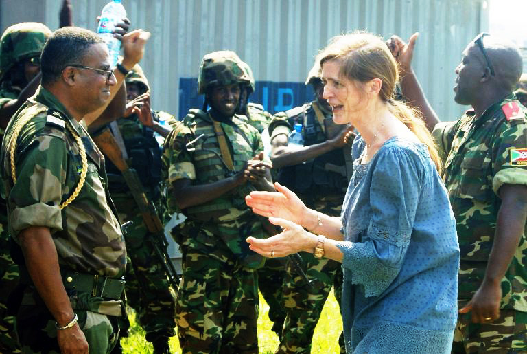 US Ambassador to UN Samantha Power, Burundian soldiers transported to Central African Republic by US 1213