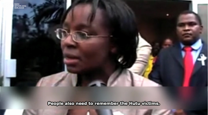 Victoire Ingabire returns from Netherlands Kigali airport 0110