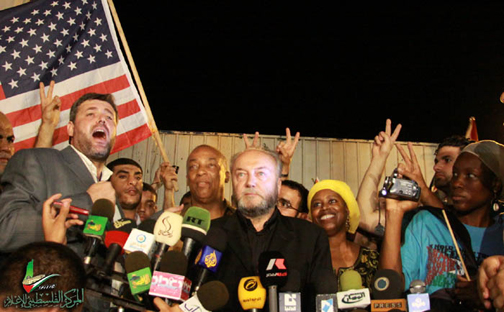 Charles Barron, George Galloway, Cynthia McKinney, M-1 interviewed in Gaza 071509 by Viva Palestina, web