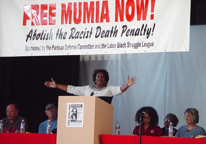 Lydia Barashango, Mumia's sister, 102106 by PDC, web