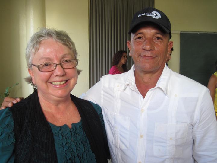 Richmond Regla Cuba Tour Mayor Gayle McLaughlin, Regla Municipal Assembly President Juan Herrera Chaviano 1213 courtesy