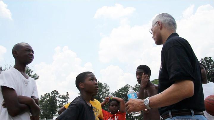 Chokwe Lumumba campaigning for mayor talks to young boys 2013