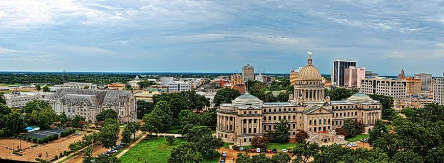 Jackson Miss. downtown panorama