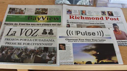 Richmond-papers-Bay-View-Post-La-Voz-Pulse-0214, Chevron joins news publisher wars in Richmond, Local News & Views