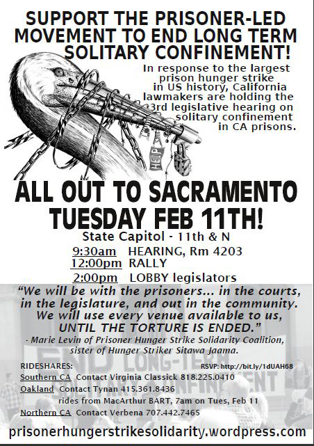 Solitary-confinement-hearing-flier-0214, Solitary confinement hearing Feb. 11: Support the prisoner-led movement and their family members, Behind Enemy Lines