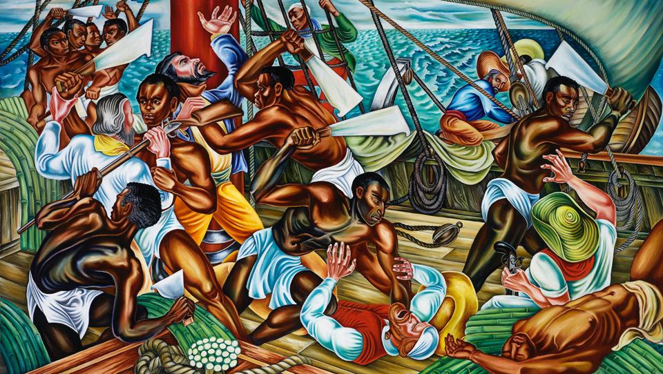 'Mutiny on the Amistad' by Hale Woodruff cy Talladega College, Alabama
