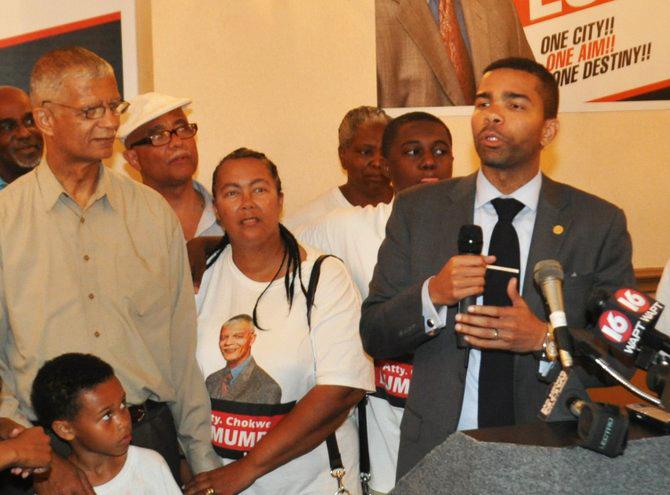 Chokwe Lumumba, Chokwe Antar Lumumba speaks election night 060413 by Trip Burns