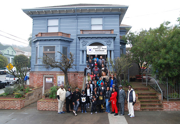 College-Prep-bldg-students-staff-on-steps, 100% College Prep: Fostering successful youth in the Bayview, Culture Currents