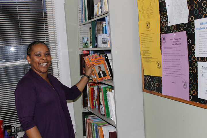 College-Prep-program-coordinator-Tachelle-Herron-Lane-in-middle-school-study-tutoring-rooms-3rd-floor-by-Laura-Sava, 100% College Prep: Fostering successful youth in the Bayview, Culture Currents