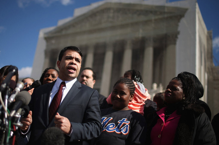 Debo-Adegbile-speaks-press-conf-outside-Supreme-Court, Behind the flash mob attack on Obama's civil rights nominee Debo Adegbile, National News & Views