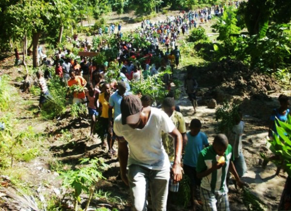 Ile a Vache protest by Dady Chery