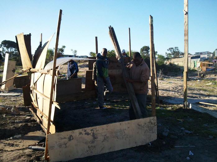 Marikana-Land-Occupation-rebuilds-homes-051613-by-Abahlali-baseMjondolo, Marikana Land Occupation wins important victory in Cape Town High Court, World News & Views