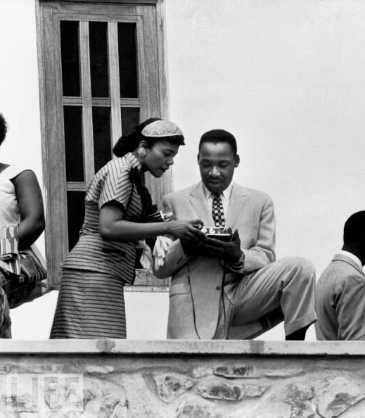 Martin Luther King, Coretta in Ghana for independence, Kwame Nkrumah's swearing in 030657