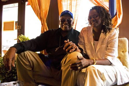 Randy Weston, wife Fatoumata Mbengue