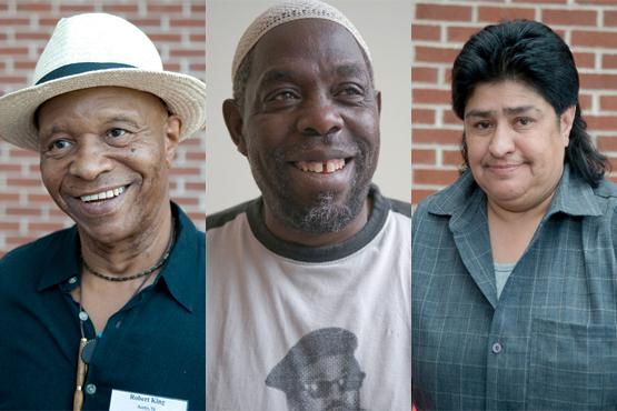 Robert King, Bilal Sunni-Ali, Tommy Escarcega, survivors of solitary by Terry Foss, AFSC, Flickr