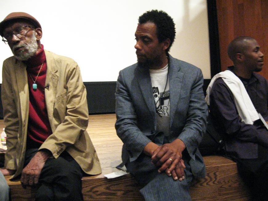 Sam Greenlee, David Roach, JR Oakland Int'l Film Festival Oakland Museum 040812