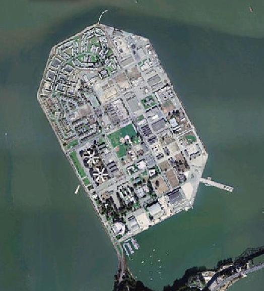 Treasure Island satellite image