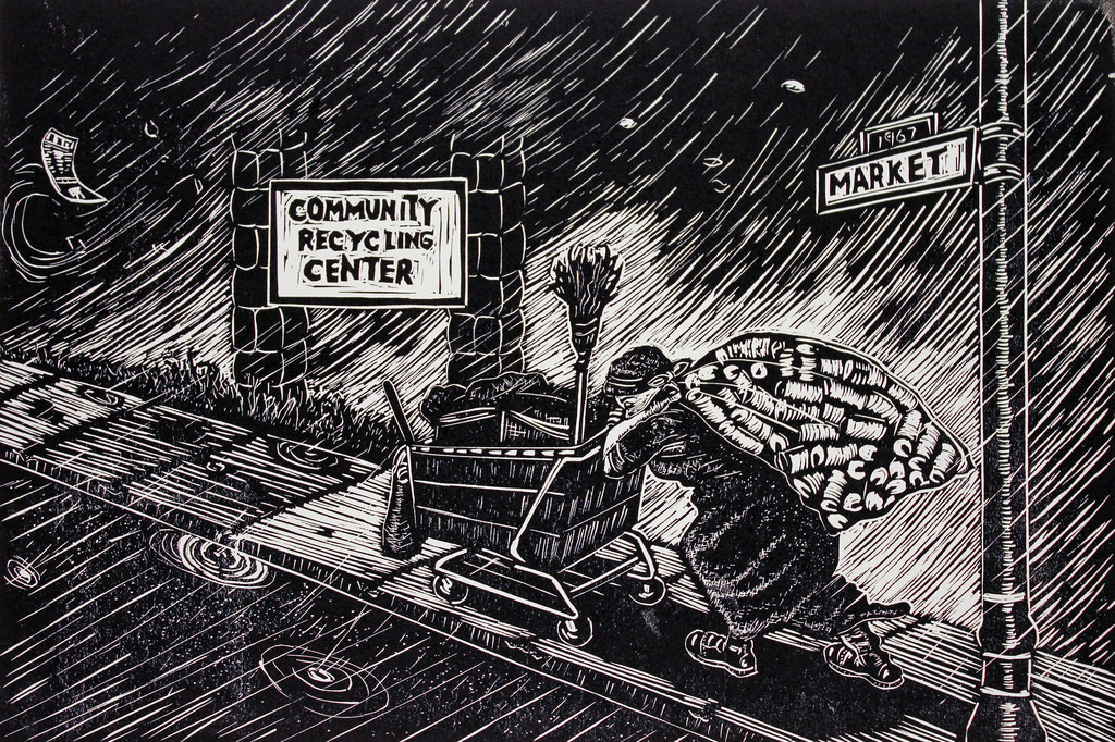 'Woman at Work' Community Recycling Center by Ronnie Goodman