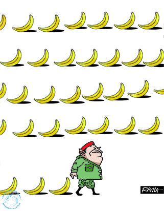 Hugo Chavez racist Venezuelan cartoon by Rayma