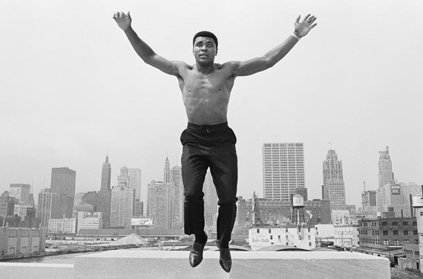 Muhammad Ali floating