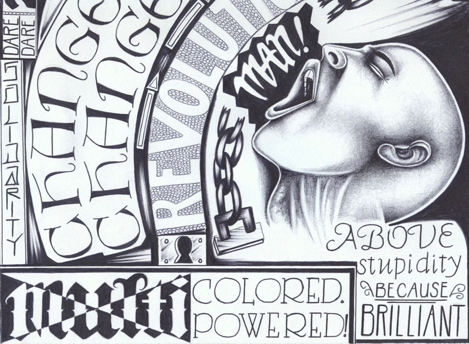 'Multi-Colored Power' art by Criss Garcia, web