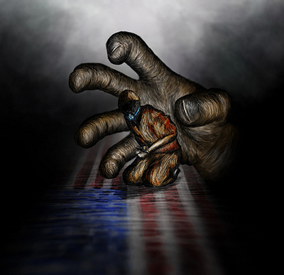 US human rights violations art by Lance Page, Truthout