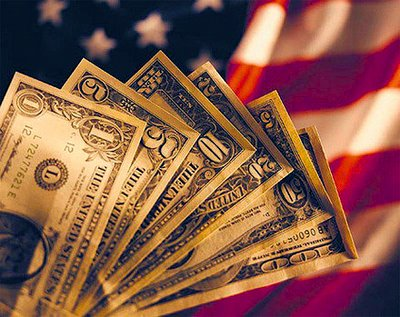 US money, flag