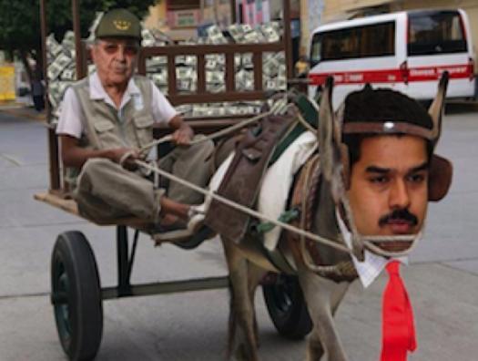 Venezuela cartoon Raul Castro controls Maduro