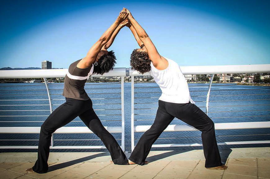 Yoga on Oakland waterfront