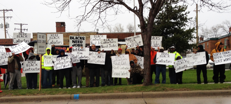 Black-contractors-workers-protest-exclusion-from-Randall-Mall-project-0414-by-American-Center-for-Economic-Equality-web, Joe Debro on racism in construction, Part 4, Local News & Views