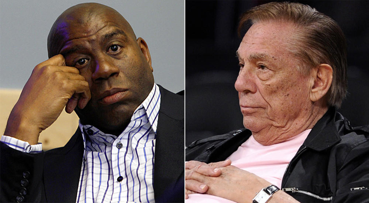 Magic-Johnson-by-Francine-Orr-LA-Times-Donald-Sterling-by-Mark-J.-Terrill-AP, Black AIDS Institute strongly condemns Donald Sterling's bigotry, National News & Views