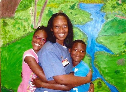 Marissa Alexander's two older children visit her in prison.