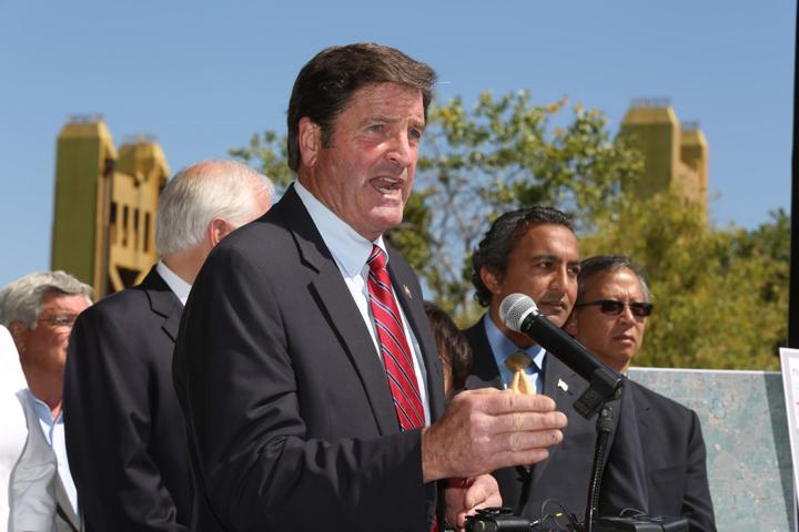 Rep. John Garamendi, 4 House colleagues, protest Bay Delta Conservation Plan 053113 by Cory Golden, web