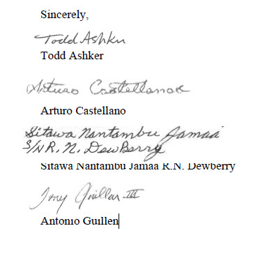 'SB 892 and AB 1652' signatures of 4 main reps 050914