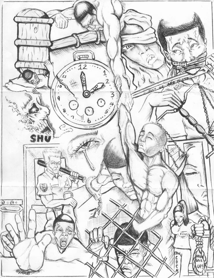"""Wake Up"" – Art: Roger ""Rab"" Moore, G-02296, High Desert State Prison Z-168, P.O. Box 3030, Susanville CA 96127"