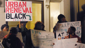 """Berkeley public housing residents protested for years but were finally evicted or threatened with eviction by Charles Ramsey until they left """"voluntarily."""" – Photo: Alexander Ritchie"""